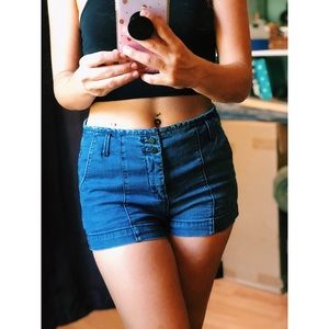✨💙 High wasted Jean shorts 💙✨